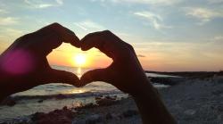 srčeko sa suncem na zalasku :-)